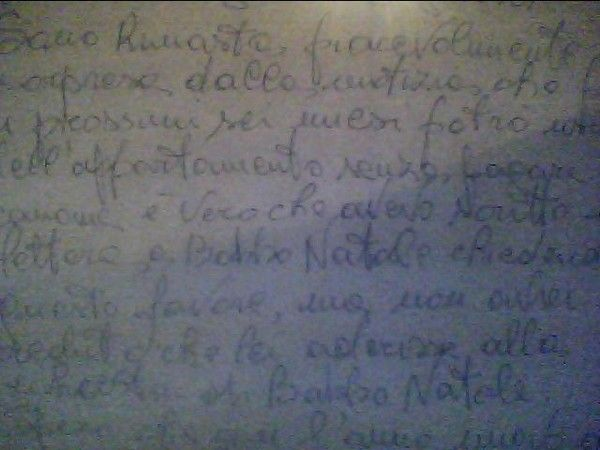 esempio scrittura grande